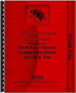 International Harvester TD6 Crawler Drott Shovel Loader Attachment