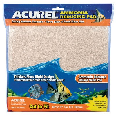 Ammonia Remover Infused Aquarium Pad [Set of 2]