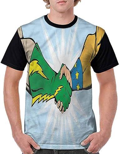 BlountDecor Printed T-Shirt,Togetherness Trust Team Fashion Personality Customization