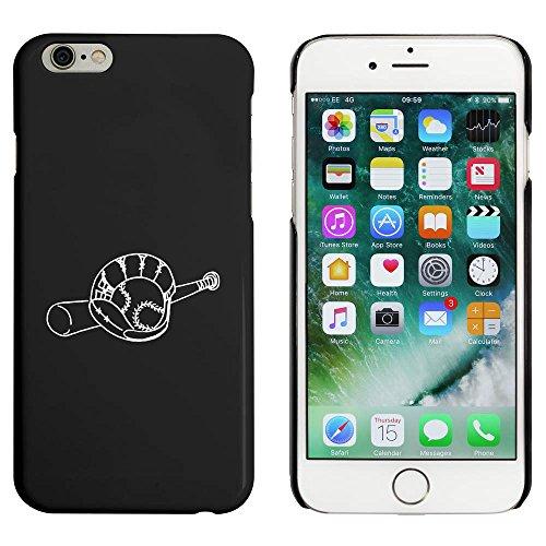 Noir 'Batte et Gant de Base-Ball' étui / housse pour iPhone 6 & 6s (MC00043033)