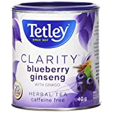 Tetley Tea Clarity (Blueberry Ginseng) Herbal Tea, 20-Count