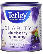 Tetley Tea Clarity (Blueberry Ginseng) Herbal Tea, 20-Count