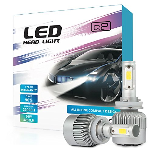 HID-Warehouse S2 72W 8,000LM - H11 LED Headlight Conversion Kit - 6500K COB LED - 2017 Model by HID-Warehouse
