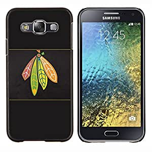 Qstar Arte & diseño plástico duro Fundas Cover Cubre Hard Case Cover para Samsung Galaxy E5 E500 (Jefe indio)