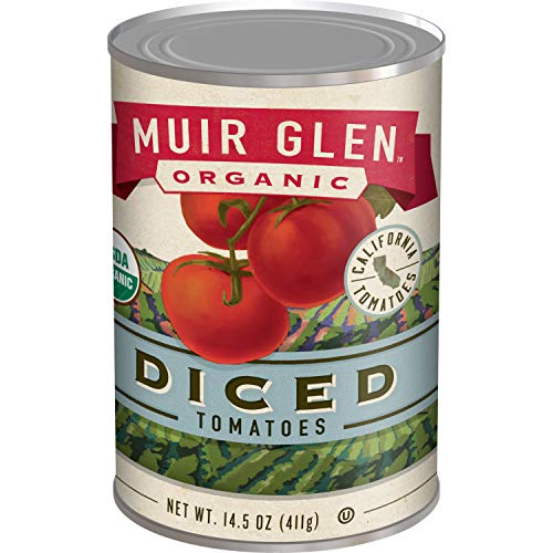 - Muir Glen Canned Tomatoes, Organic Diced Tomatoes, No Sugar Added, 28 Ounce Can