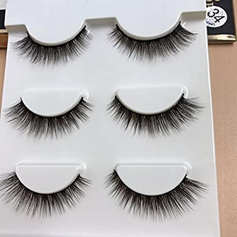 7daeb15972c Buy 3d34 : 3 Pairs/1 set 3D Cross Thick False Eye Lashes Extension Makeup  Super Natural Long Fake Eyelashes New Online at Low Prices in India -  Amazon.in