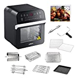 GoWISE USA 12.7-Quarts 15-in-1 Electric Air Fryer Oven w/Rotisserie and Dehydrator + 50 Recipes for your Air Fryer Oven Book
