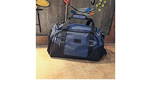 05ca2c423b04 Amazon.com   Yunqir Multi-function Outdoor Large Capacity Gym Bag Sports  Holdall with Shoe Compartment Travel Weekender Duffel Bag(Dark Blue)    Sports   ...
