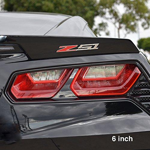 Billet Badge (Corvette Z51 Billet Aluminum Chrome Plated Badge/Emblem : C6, C7 Z51 (6 inch))