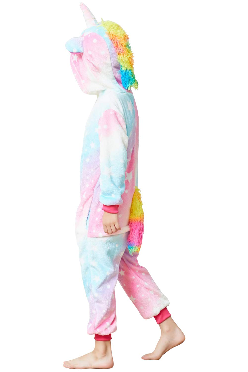 Lovely Kids Unicorn Onesie Pajamas Girls Animal Costume Chlidren Halloween Cosplay 6