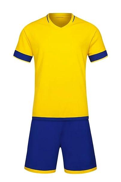 KINDOYO Niño Hombres Fútbol Ropa Camiseta y Shorts Conjunto Equipo  Entrenamiento Competencia Ropa Deportiva Siete Colores Todos los Tamaños   Amazon.es  Ropa ... 2b8ff26d1ac56