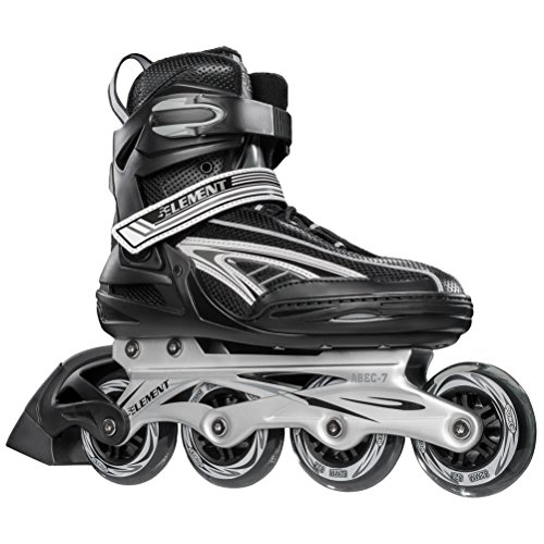 5th Element Panther XT Mens Recreational Inline Skates, Black and White, Rollerblades with ABEC 7 Bearings and 82mm Wheels - ()