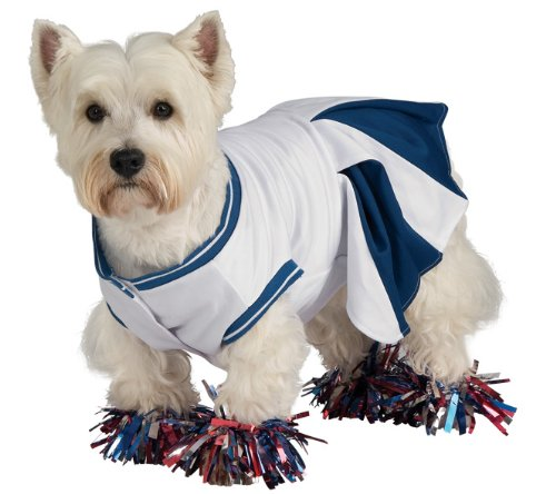[Rubie's Deluxe Cheerleader Pet Costume, Large] (Dress Deluxe Costumes)