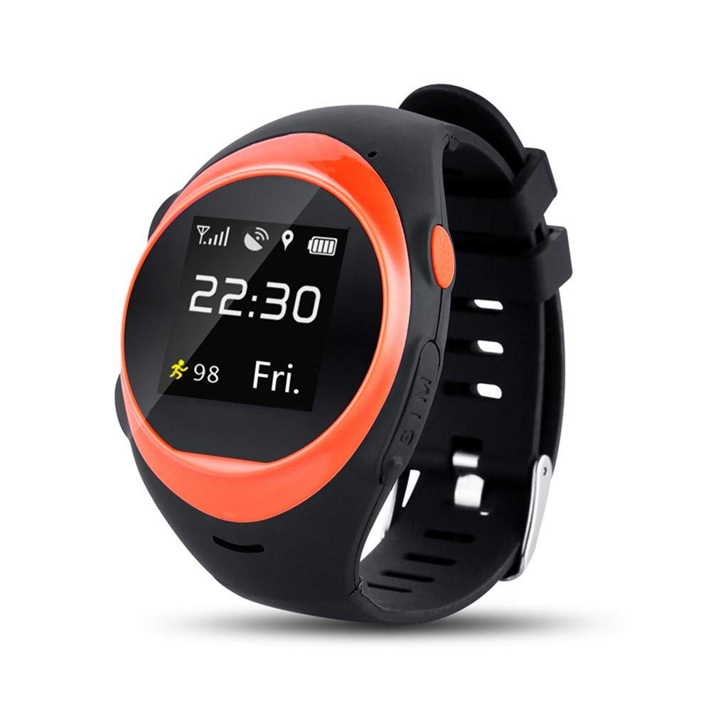 WiFi GPS Smart Watch Cellphone Support Nano Sim,Heart Rate Monitor,Pedometer Ect,Amoled 1.39Inch Round Touch Screen and 2 Million Hd Pixels Camera(Orange) by MONISE-Watch