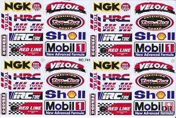 Sponsoren Aufkleber Racing Tuning Motocross Mx Sticker Bogen