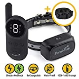 Pawious Dog Training Collar [Newest 2019] - Rechargeable Remote Dog Shock Collar Small Medium Large Dogs - Long Range, Waterproof, Large LED Screen, Beep, Vibration, Shock E-Collar