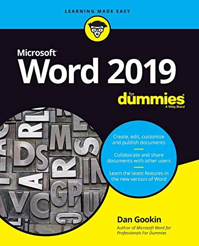Word 2019 For Dummies (Tablet Word Processor)