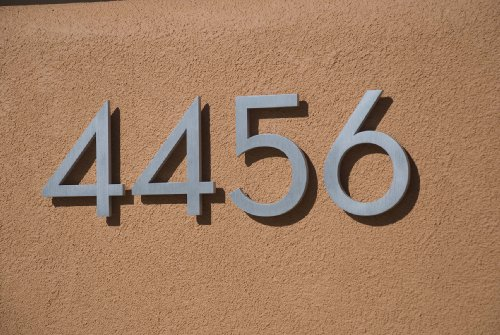 Modern House Number Red Color Aluminum Modern Font (Number 1) by Moderndwellnumbers.com (Image #8)