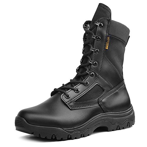 IODSON US New Military Athletic Tactical Comfort Leather Boots Mens' Ultra-Light Combat Boots Waterproof 10.5 D(M) US - Athletic Waterproof Mens Boots