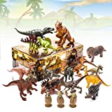 """Kids 20 Packs Dinosaurs Toy Play Set for Toddlers, Boys Educational Toy Realistic Looking 6"""" to 10"""" Assorted Dino Figures with Dinosaur Eggs, Tyrannosaurus Rex, Triceratops for Party Favors and Gift"""