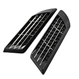 Automotive Accessories Exterior Truck Best Deals - uxcell Truck Car Exterior Decorative Side Air Flow Vent Stickers Black 2 Pcs