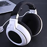Headphone Neckband Gaming Headset,Portable Neck Cross Earphones with Micphone,Compatiable with PC compucter and Mobile phone. (White) Review