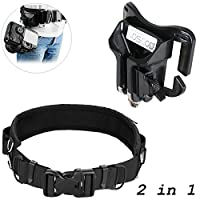 DSLR Camera Holster Waist Belt + Clip, [2 in 1 Bundle] COSCOD Strap Holder Holster for Nikon Canon Sony Pentax Fujifilm Olympus DSLR Cameras Outdoor Adjustable Strap with Quick Release Buckle Holster