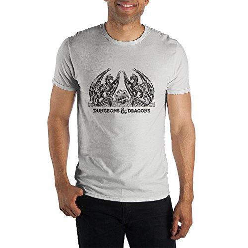Dungeons and Dragons Logo Mens T-Shirt XL (White) -