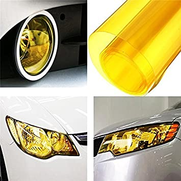DIYAH 12 X 48 Inches Self Adhesive Headlight Dark Black Tail Lights Fog Lights Tint Vinyl Film