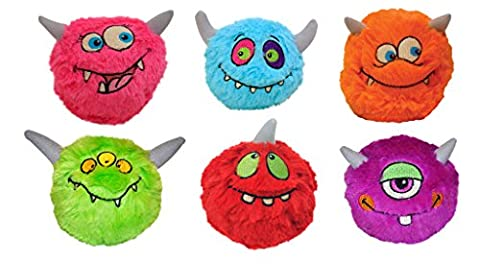 Just For Laughs Monster Slam Jammers 6-Pack (Neon Pink, Red, Purple, Neon Orange, Neon Green, Light (Laughing Dog Ball)