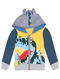 C.Cute Little Boys Cartoon Animal Dinosaur Jacket Hoodies Coat Outerwear