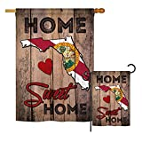 Ornament Collection S191151-BO State Florida Home Sweet Home Americana States Impressions Decorative Vertical House 28″ X 40″ Garden 13″ X 18.5″ Double Sided Flags Set Printed in USA Multi-Color For Sale