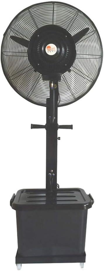 Ventilador de Pedestal Industrial Ventiladores de pie con Pedestal de rociado oscilante con Ventilador de pie Ventiladores con 3 velocidades de enfriamiento Motor Fuerte oscilado a 90 ° para Uso Ind