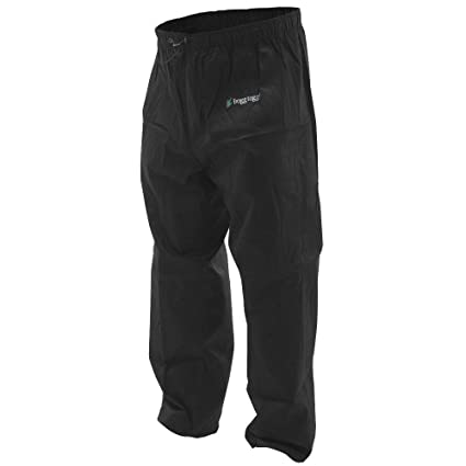 8f33c7757d016 Frogg Toggs Pro Action Water-Resistant Rain Pant, Black, Size Small