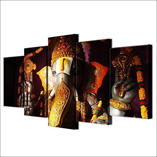 Amazon.com: KLKLDD Ganesha Poster Elephant Ganesh India ...