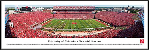 Nebraska Cornhuskers Football - 50 Yard - Blakeway Panoramas College Sports Posters with Standard Frame
