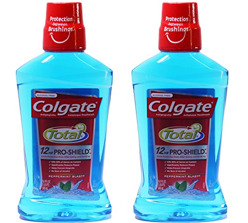 - Colgate Total Advanced Pro-Shield Mouthwash, Peppermint Blast, 16.9 Ounce (Pack of 2)