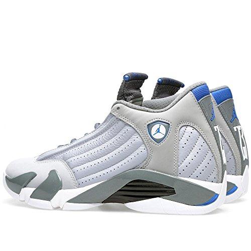Nike Air Jordan 14 Retro Basketball Schuhe Wolf Grey / Sprt Blau-cl Gry-Wht