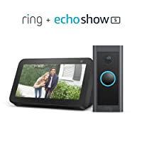 Deals on Ring Video Doorbell Wired Bundle w/Echo Show 5