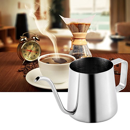 Gooseneck Coffee - 350ML(12OZ) Long Narrow Spout Coffee Pots, 304 Stainless Steel Gooseneck kettle for coffee & tea, Hanging Ear Hand Blunt Pour Over Drip Pot, Hanging Ear Coffee Bag Lover