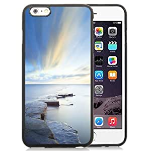 Fashionable Custom Designed Ipod Touch 5 Phone Case With Rock Road Wonderful Blue Sky_Black Phone Case