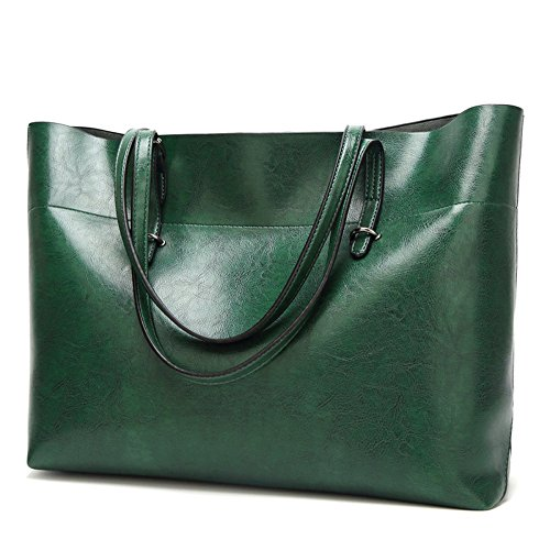 Elegant Leather Bag Shoulder Women's Bag Green Vintage Handbag Color Soft Bag Retro City Solid BBapqwU