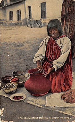 San Ildefonso Indian Making Pottery Indian ()