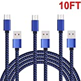 Micro USB Cable Android Tablet Charger Fast Long Charging Cord 10 FT 3Pack Braided Android Phone Charger For Kindle Fire HD,Fire 7/8/10 Tablet Samsung Galaxy S7/S6/S4/J7/J3/Note5,LG V10 PS4 Xbox One