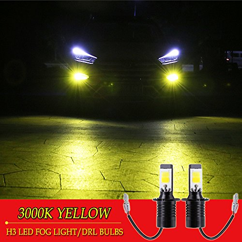 lb Yellow Amber Gold Golden 3000K for Trucks Cars Lamps Kit Plug Error Free All in One High Power Replacement Bulbs 12V 30W 2800LM Super Bright COB Chips 1 Year Warranty【1797】 ()
