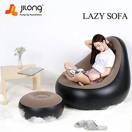 Jilong portátil Creative PVC hinchable rápido affaissement sofá ...
