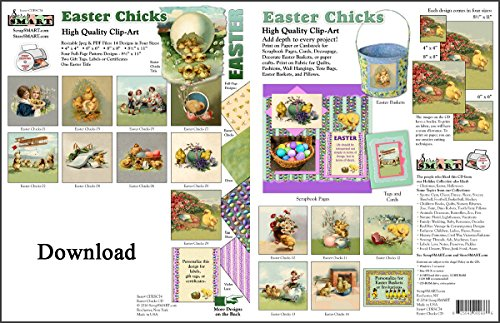 ScrapSMART - Easter Chicks Collection Software - Jpeg & PDF Files for Mac [Download] by ScrapSMART