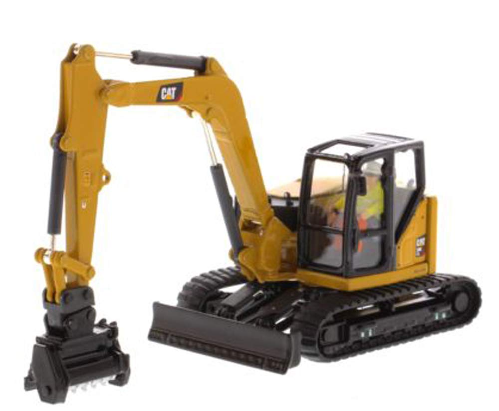 CAT Caterpillar 309 CR Next Generation Mini Hydraulic Excavator with Work Tools and Operator High Line Series 1/50 Diecast Model by Diecast Masters 85592
