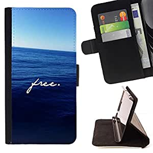 Momo Phone Case / Flip Funda de Cuero Case Cover - Motivation Deep Blue Sea - Sony Xperia M5