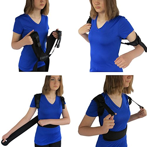 ComfyMed Posture Corrector Clavicle Support Brace CM-PB16 Medical Device to Improve Bad Posture, Thoracic Kyphosis, Shoulder Alignment, Upper Back Pain Relief for Men and Women (LGE (41'-47' Chest))